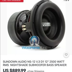 Sundown Audio Nightshade v3 12